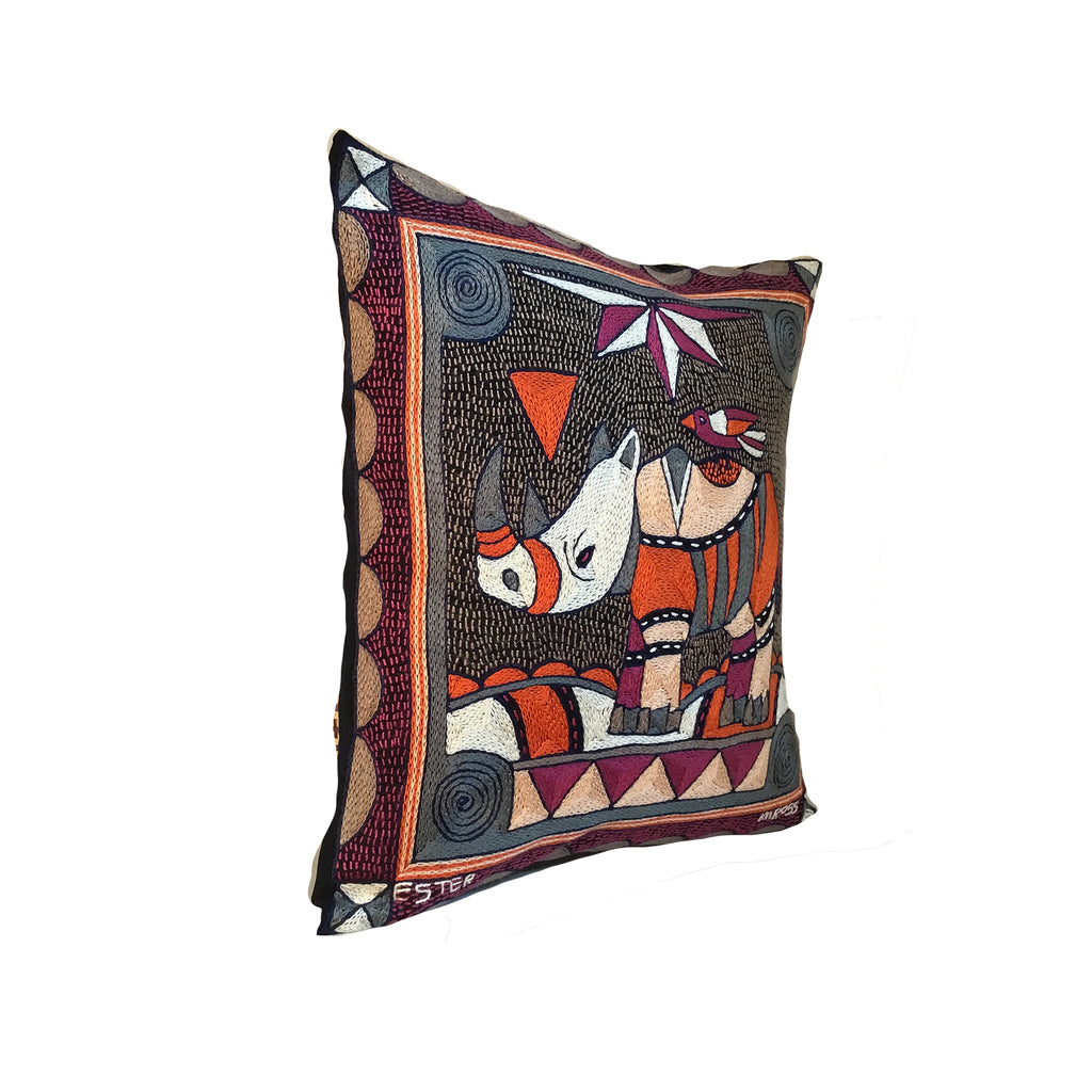 Ruby Sunset Rhino Cushion Cover