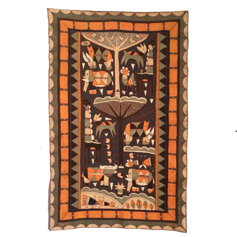 Namib Rust Animals Grazing Embroidered Cloth