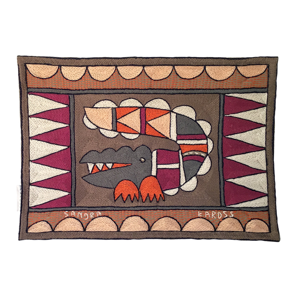 Ruby Sunset Crocodile Padded Placemat