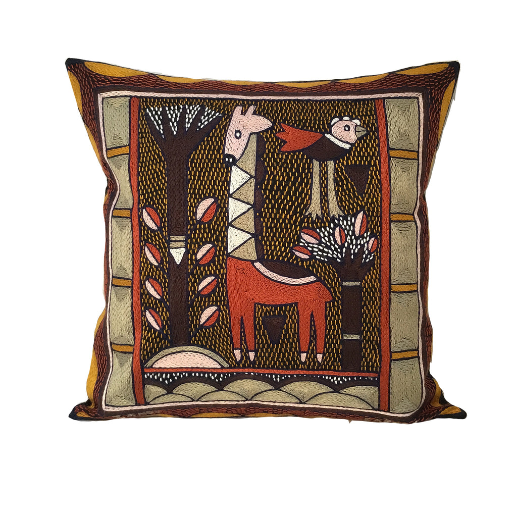 Namib Rust Giraffe Standing Cushion Cover