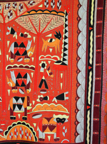 Red day Embroidered Cloth