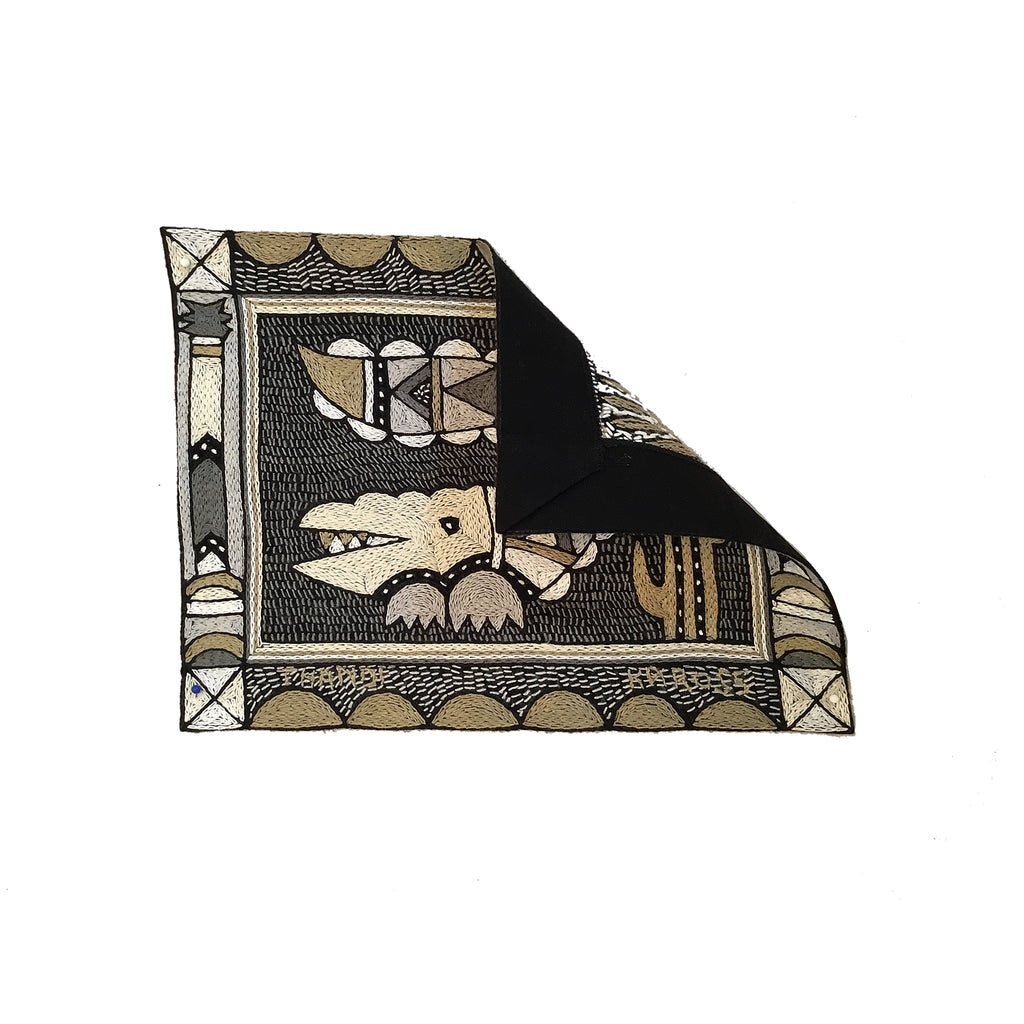 Scattering of Africa Crocodile Unpadded Placemat