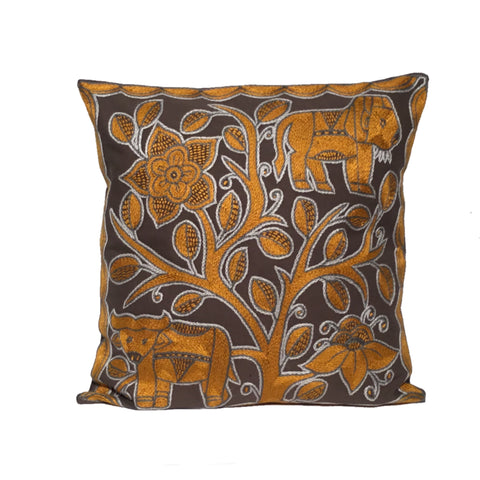 Ode to the African Savannah Lion Watching Monochrome Cushion Cover