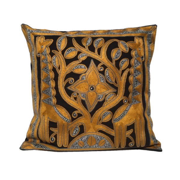 Ode to the African Savannah Giraffe Brothers Monochrome Cushion Cover