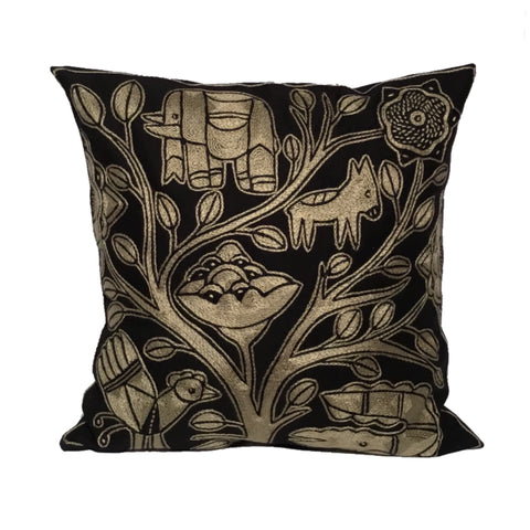Ode to the African Savannah Animals Monochrome Cushion Cover