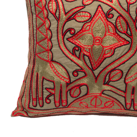 Royal Zulu Giraffe Brothers Monochrome Cushion Cover