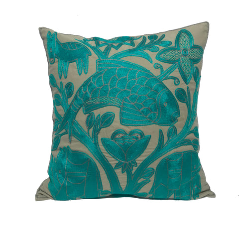 Viva Africa Emerald Animals Monochrome Cushion Cover