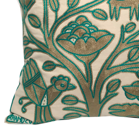 Viva Africa Tree on River's Edge Monochrome Cushion Cover