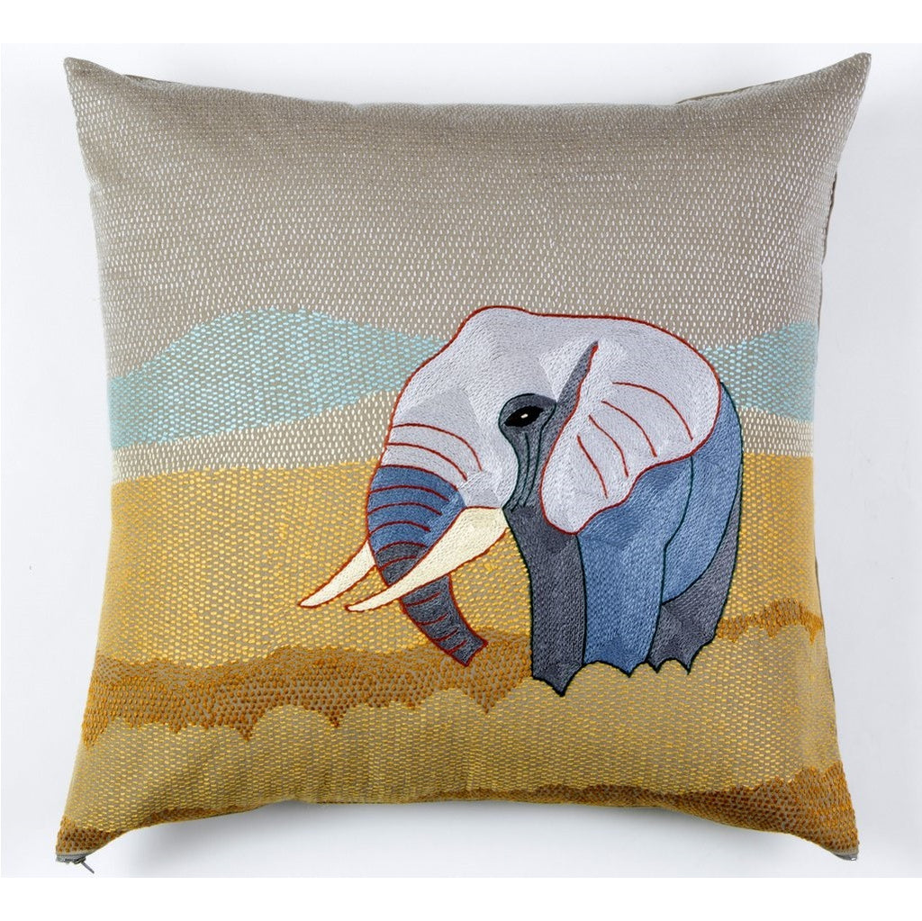 Tashas Elephant on the African Plains Cushion Cover