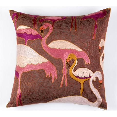 Flamboyant Flamingoes Cushion Cover