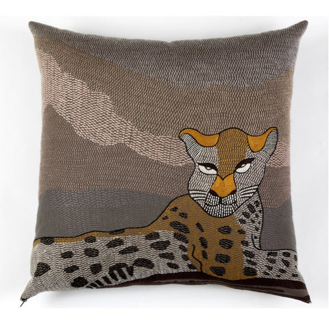 Lying Leopard Cushion Cover