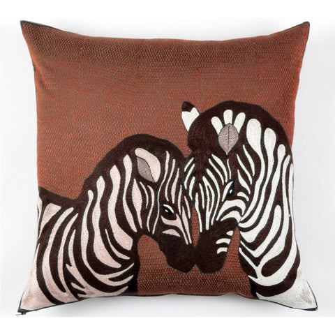 Zebra Embrace Cushion Cover