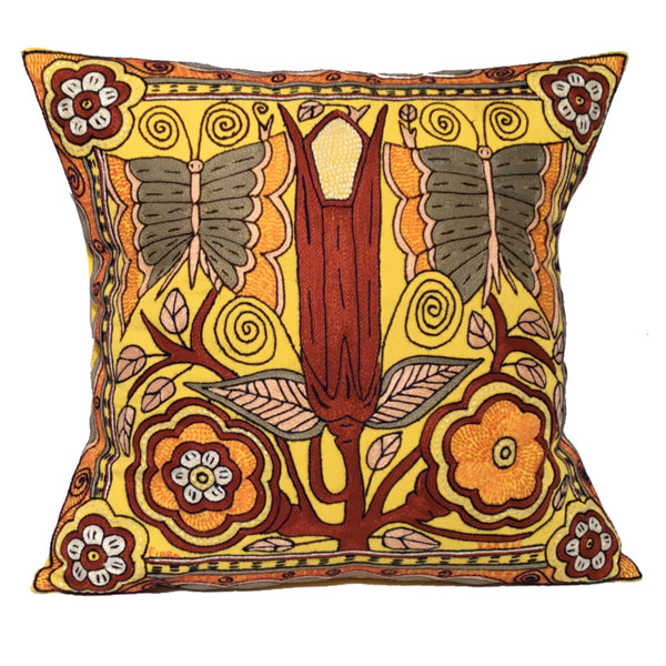 Butterflies and Flowers Cushion Cover