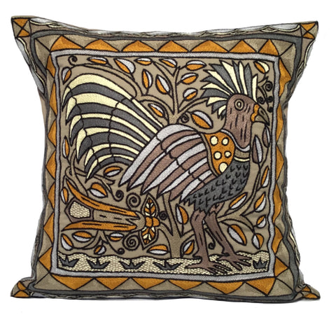 Ode to the African Savannah Bird Cushion Cover