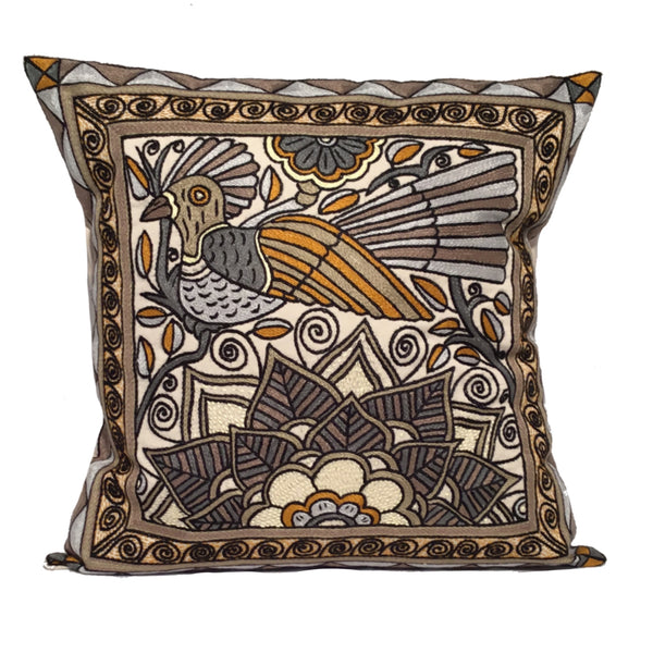Ode to the African Savannah Bird in a Tree Ephas Cushion Cover