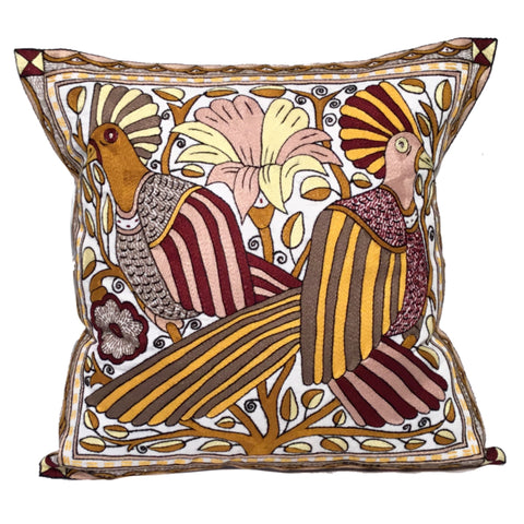 Ruby Sunset Two Birds Cushion Cover