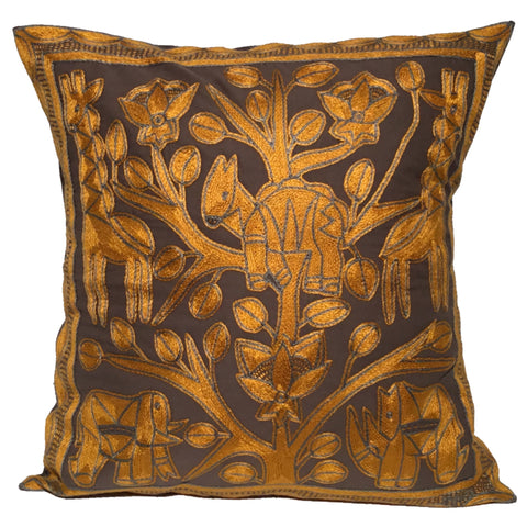 Ode to the African Savannah Antelope Love Monochrome Cushion Cover