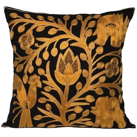 Ode to the African Savannah Flowers Monochrome Cushion Cover