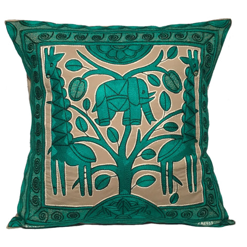 Viva Africa Elephant's Heart Monochrome Cushion Cover
