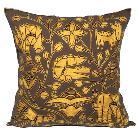 Viva Africa Crocodile Heart Monochrome Cushion Cover