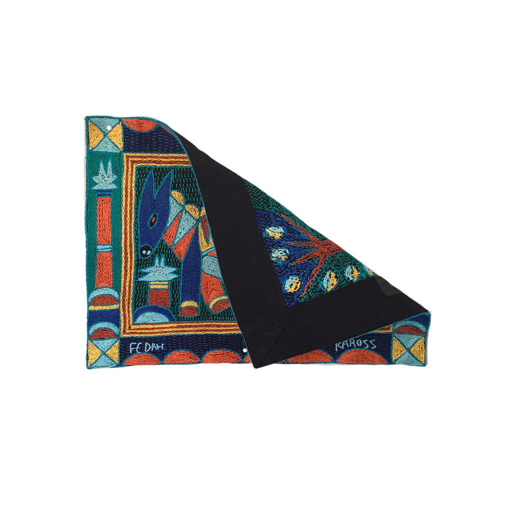 Valencia Antelope Hand-Embroidered Unpadded Placemat
