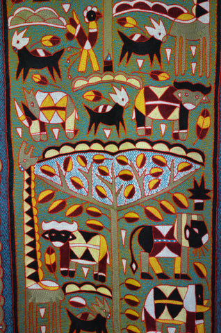 Royal Zulu Lions Embroidered Cloth