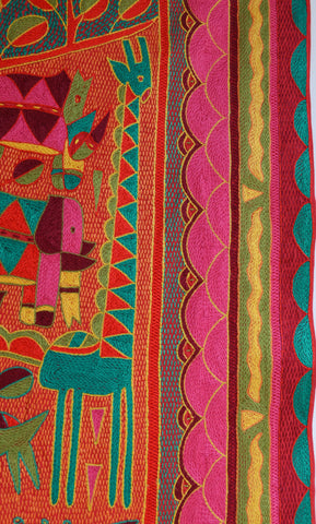 African Jewels embroidered Cloth