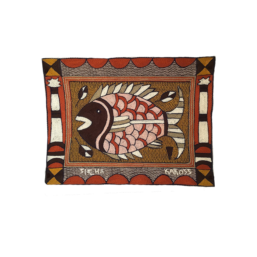 Namib Rust Fish Hand-Embroidered Unpadded Placemat