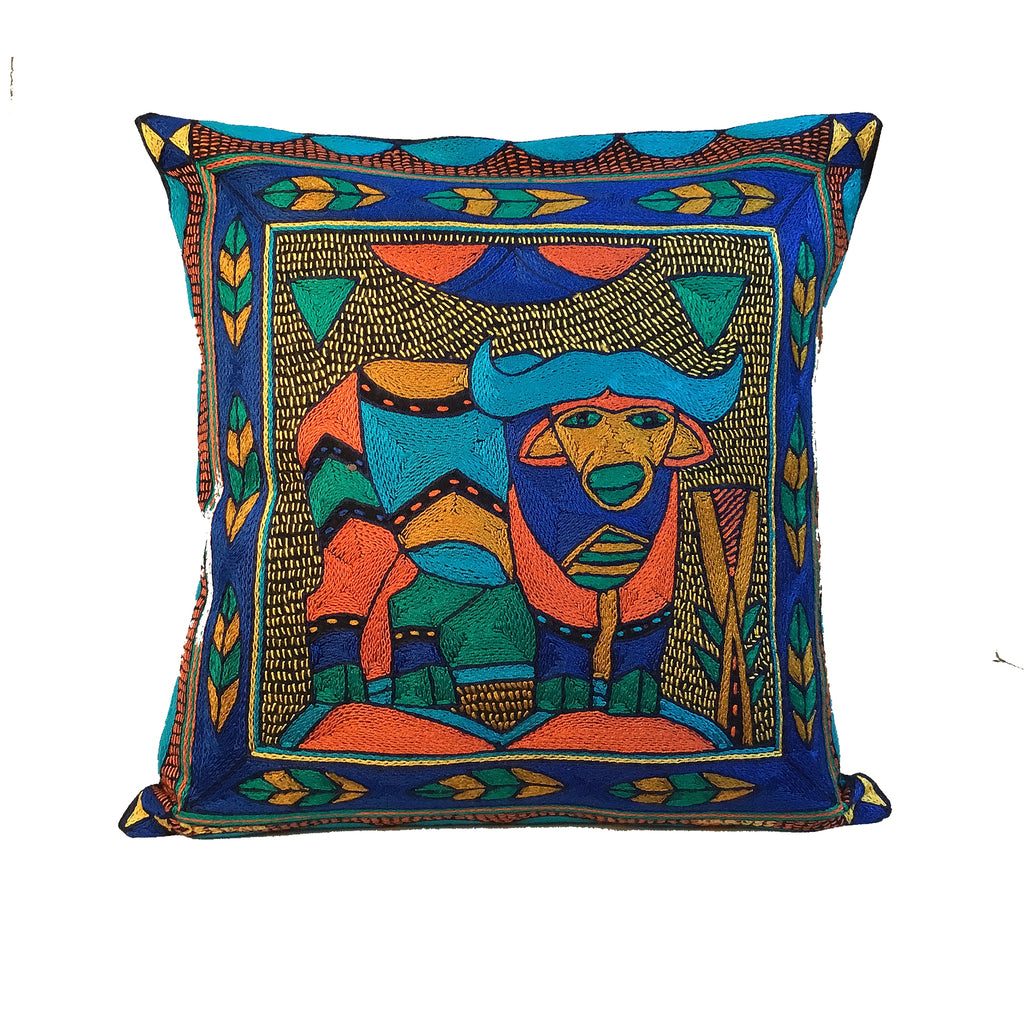Marula's in Autumn Buffalo handmade Cushion Cover
