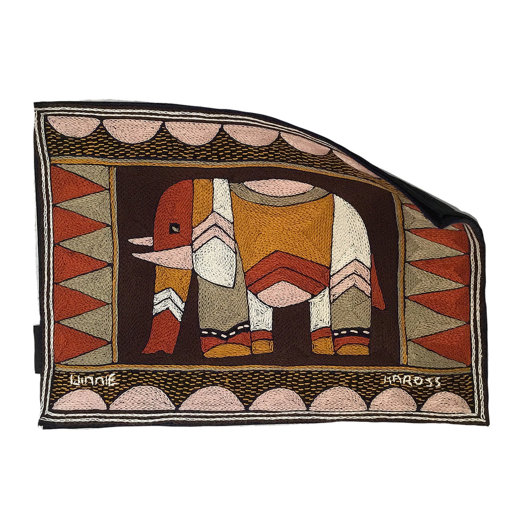 Namib Rust Elephant Grazing Padded Placemat