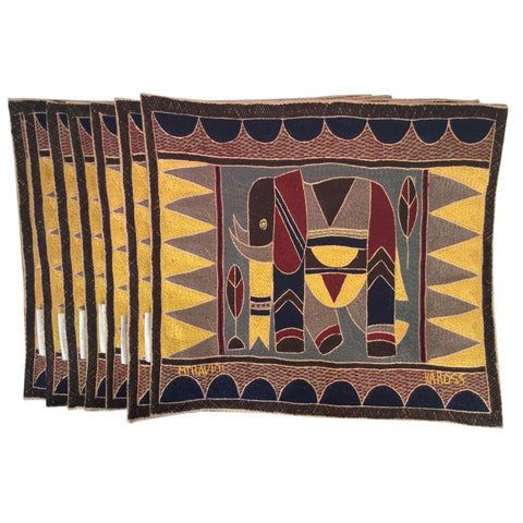 Hazelnut, Yellow and Grey Antelope Padded Placemat
