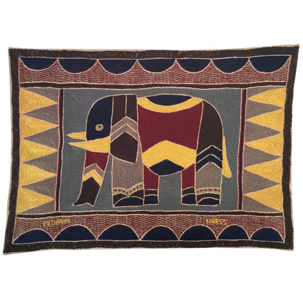 Hazelnut, Yellow and Grey Elephant2 Padded Placemat