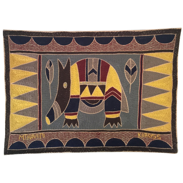 Hazelnut, Yellow and Grey Anteater Padded Placemat