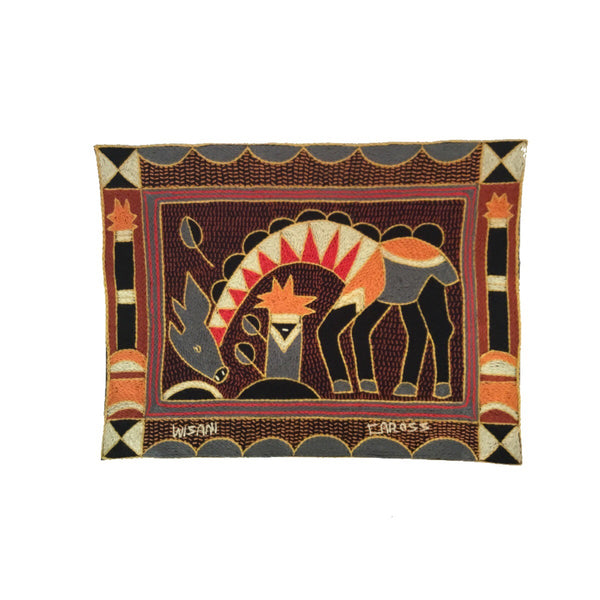 Royal Zulu Black, Red and Grey Giraffe Placemat