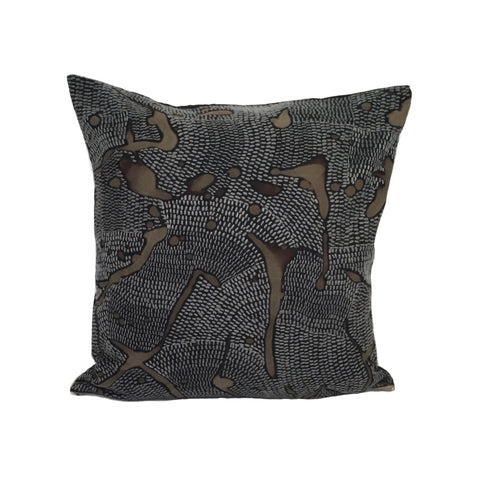 African Veld in Grey markings 45cm square cushion cover
