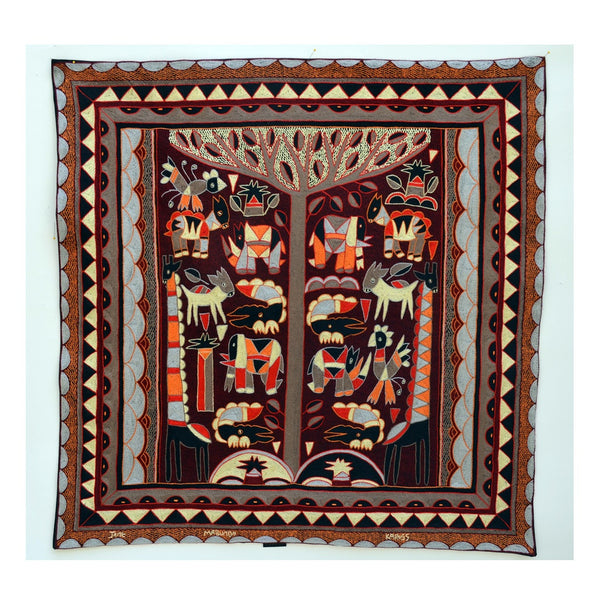 Royal Zulu Hazelnut Tree shade Embroidered Cloth