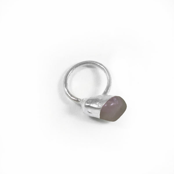 Rose Quartz Ring, Medium