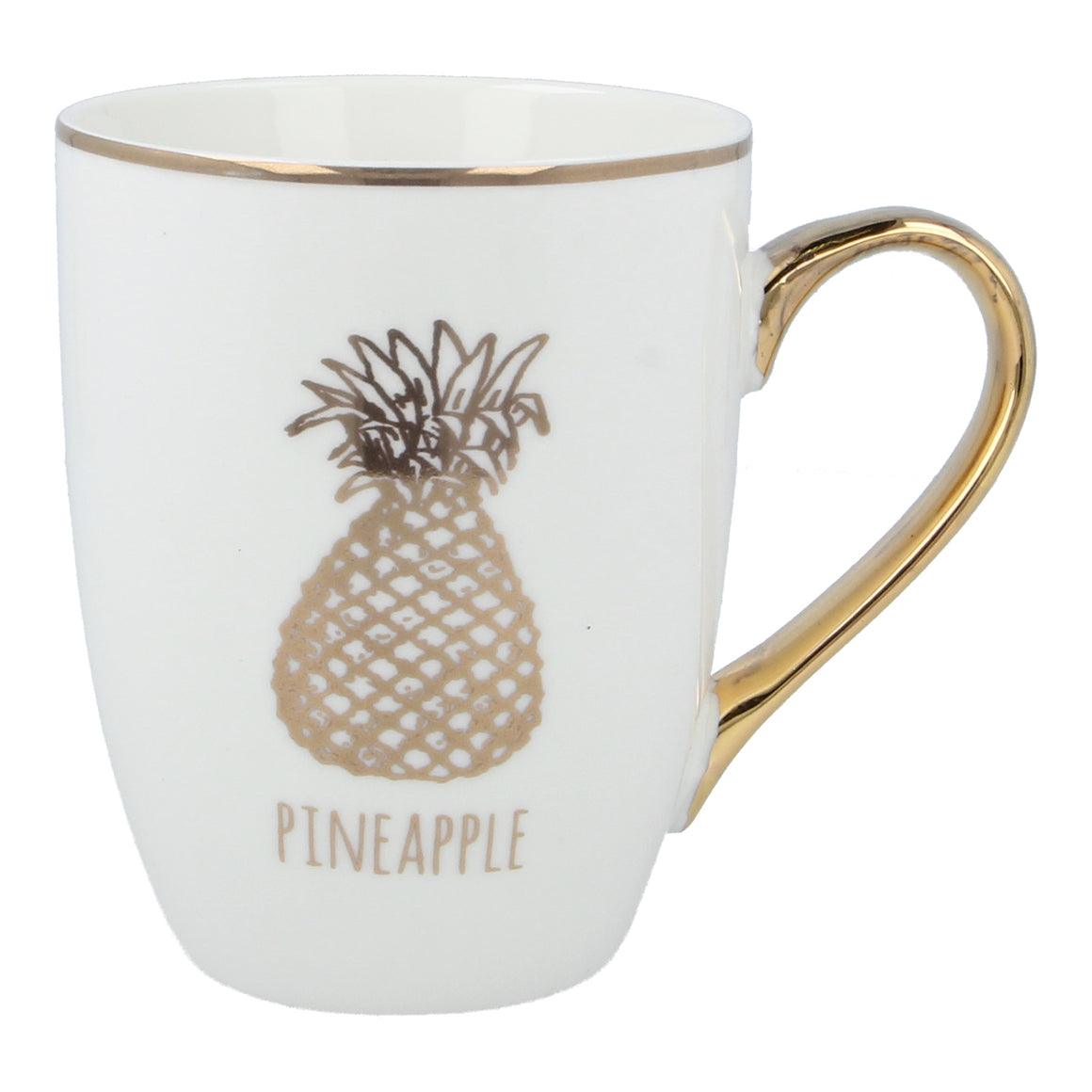 pineapple mug in gold
