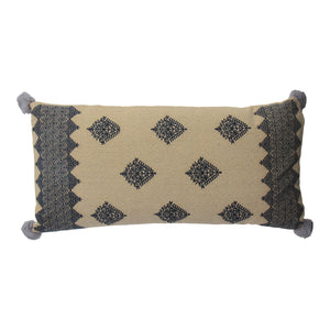 patterned geometric cushion