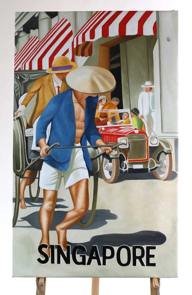 oil on canvas painting Singapore 80cm x 130cm tall