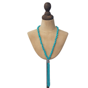 Turquoise Indian bead necklace
