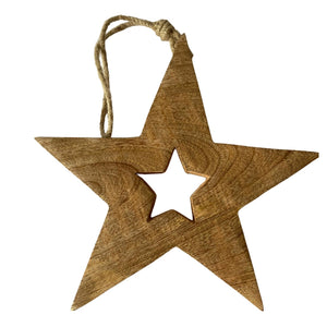 Wooden Christmas Decor Star