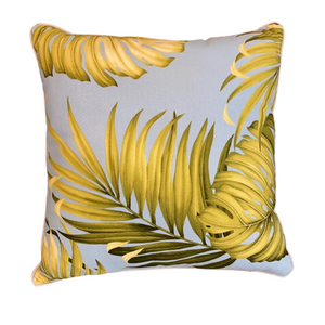 Blue Fern Tropical Cushion
