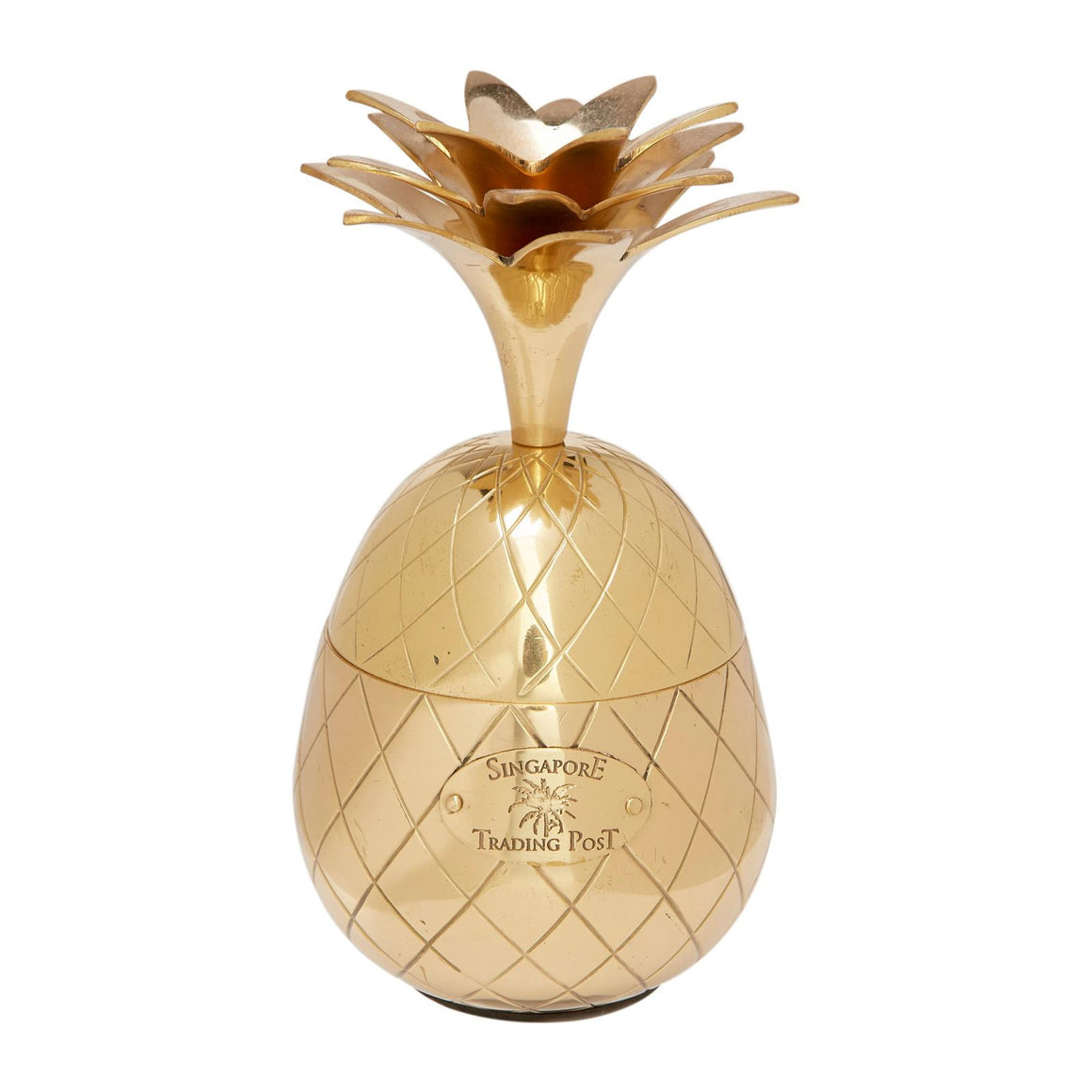 brass pineapple candy box