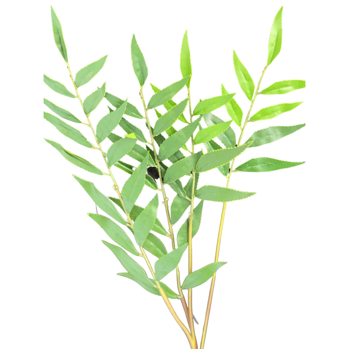 Green bamboo artificial leaf stem