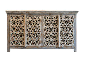 White carved sideboard