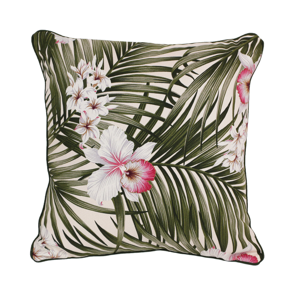 floral fern cushion