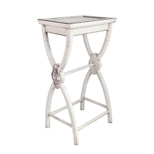 Tall white side table