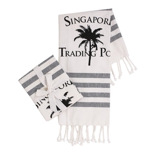 The original palm tree tea towel  - set of 2