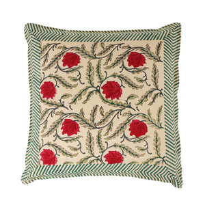 Pink floral cushion - small